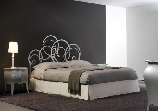 Letto matrimoniale mod azzurra in ferro battuto cosatto bianco confetto ebay - Camere da letto con letto in ferro battuto ...